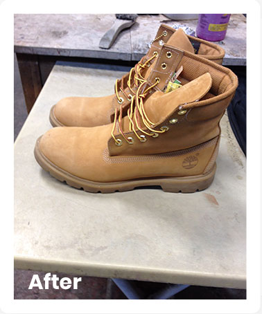 Boots After Cleaning