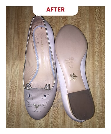 Designer shoe Cleaning in Toronto Before After Photo 6