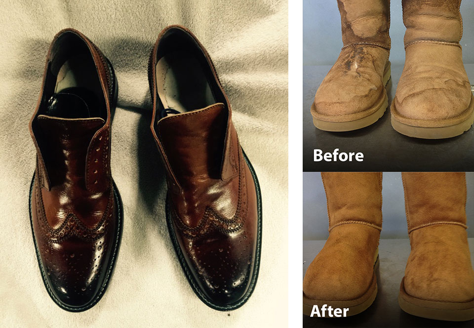 Shoe Cleaning Before and After Photos